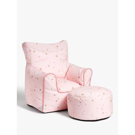 image-little home at John Lewis Stardust Bean Bag Chair and Stool Set