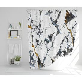 image-Glynda Polyester Shower Curtain Set Canora Grey Size: 177cm H x 177cm W