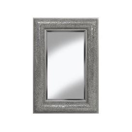 image-Zofia Decorative Wall Mirror Rectangular In Silver