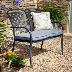 image-2020 Hartman Berkeley 2 Seater Garden Bench With Cushion ΓÇô Antique Grey/Platinum