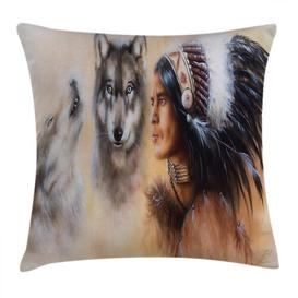 image-Kaleem Old Feather Outdoor Cushion Cover Ebern Designs Size: 45cm H x 45cm W
