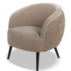 image-Kourtnee Ruched Tub Chair Blue Elephant