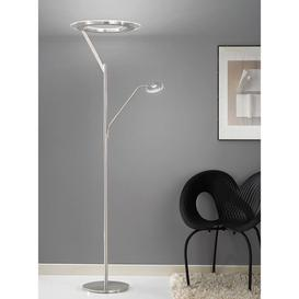 image-S214 Satin Nickel LED Mother and Child Floor Lamp