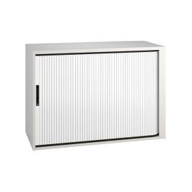 image-Campos Low Tambour Unit (White), White, Free Next Day Delivery