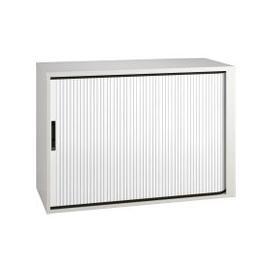 image-Campos Low Tambour Unit (White), White