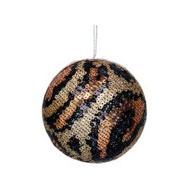 image-Copper Animal Print Bauble