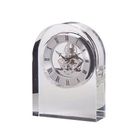 image-Curve Tabletop Clock Dartington Crystal Finish: Clear