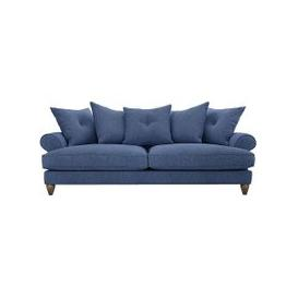 image-The Lounge Co. - Bronwyn 4 Seater Fabric Scatter Back Sofa - Blue