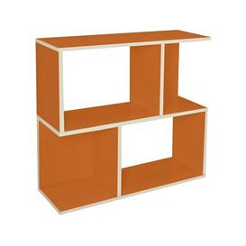 image-Low Wide 77cm Cube Unit Bookcase Symple Stuff Colour: Orange