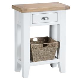 image-Eden Oak and White Telephone Table