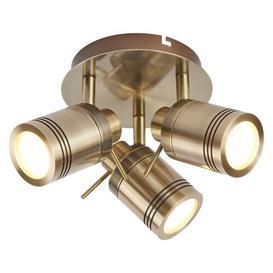 image-Marceline 3-Light LED Ceiling Spotlight Borough Wharf Fixture Finish: Antique Brass