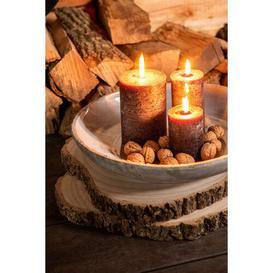 image-Cylinder Unscented Jar Candle J-Line Size: 15cm H x 10cm W x 10cm D, Colour: Christmas Red