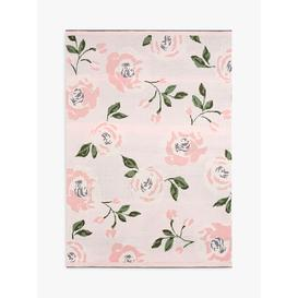 image-Pottery Barn Kids Meredith Floral Knit Baby Blanket, Pink