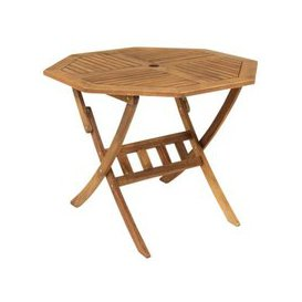 image-Wooden Hardwood Octagonal Garden Dining Table