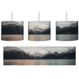 image-Northern Landscape 1-Light Drum Pendant East Urban Home Shade Colour: Grey/Beige