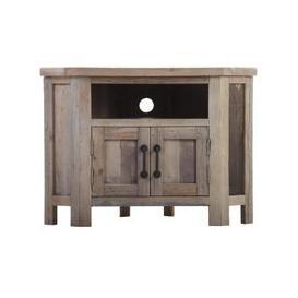 image-Cal Stadium Wooden 2 Door Corner TV Unit
