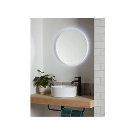 image-John Lewis & Partners Halo Illuminated Round Bathroom Mirror