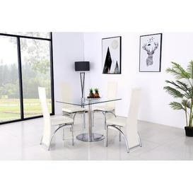 image-Adlingt Dining Set with 2 Chairs Metro Lane Colour (Chair): Ivory
