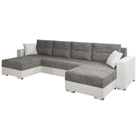 image-Gambia Sleeper Corner Sofa Bed Selsey Living Upholstery Colour: Grey/White