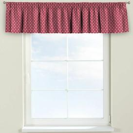 image-Ashley Curtain Pelmet Dekoria Size: 130cm W x 40cm L, Colour: Pink/White