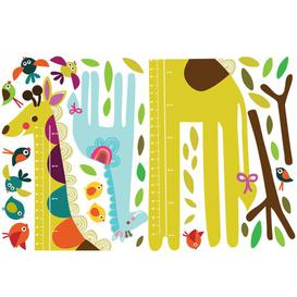 image-Giraffe Growth Chart Wall Sticker Set East Urban Home