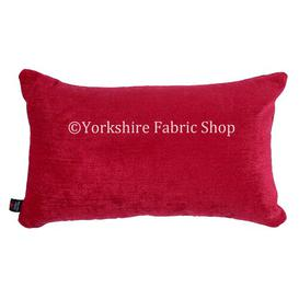 image-Sorento Cushion with Filling Yorkshire Fabric Shop Colour: Red
