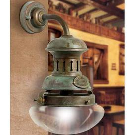 image-Galleon 1 Light Outdoor Wall Lantern Moretti Luce Finish (mount): Auburn antique brass