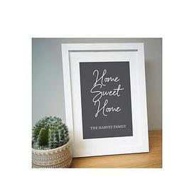 image-Personalised Home Sweet Home A4 Framed Print
