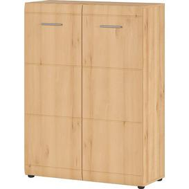 image-Garcia 24 Pair Shoe Storage Cabinet Mercury Row Colour: Beech
