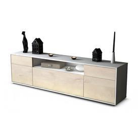 "image-Devlin TV Stand for TVs up to 42"" Ebern Designs Colour: Cedar / Matte White"