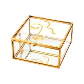 image-Sass & Belle Abstract Face Glass Jewellery Box