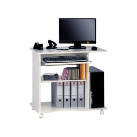 image-Fiadone Computer Trolley, White Uni, Free Standard Delivery