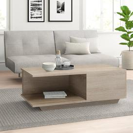 image-Theresa Coffee Table with Storage Zipcode Design Frame colour: Sonoma
