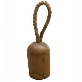 image-Bobbin Wood Furniture Natural Teak Door Stopper