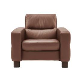 image-Stressless Wave Low Back Chair, Leather