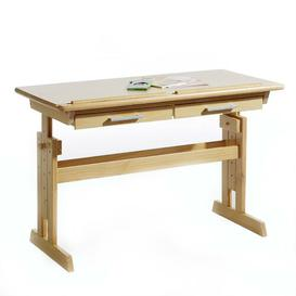 image-Fitzgerald 109cm Art Desk Isabelle & Max Colour/Finish: Brown