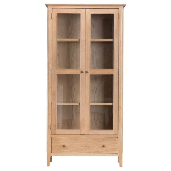image-Trento Oak Display Cabinet