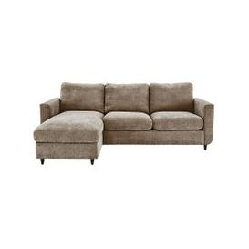 image-Esprit Fabric Chaise Sofa Bed with Storage - Beige