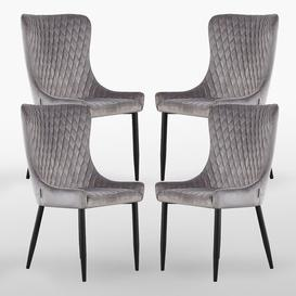 image-Kristopher Upholstered Dining Chair Corrigan Studio Upholstery Colour: Grey