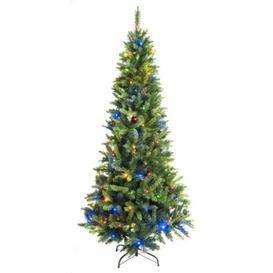 image-210cm (7 Foot) Multicolour Slim 778 Tips Christmas Tree