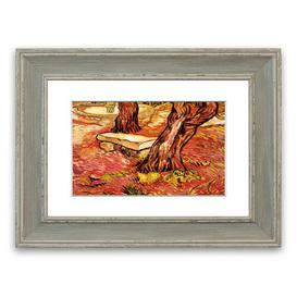 image-'The Stone Bench In The Garden Of Saint Paul Hospital By Van Gogh Cornwall' Framed Photographic Print East Urban Home Size: 93 cm H x 126 cm W, Frame