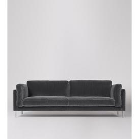 image-Swoon Munich Three-Seater Sofa in Granite Easy Velvet