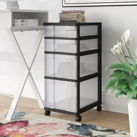 image-Svoboda 4 Drawer Mobile Chest Wayfair Basics