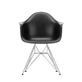 image-Vitra Eames DAR Armchair New Height Deep Black Chrome Base