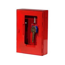 image-Securikey Emergency Key Box With Tamper Evident Seal, Red