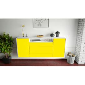 image-StowtheWold Sideboard Brayden Studio Colour (Body/Front): White Mat/Yellow