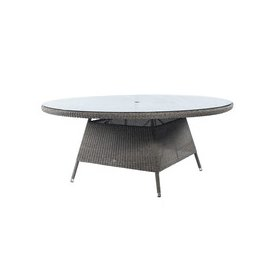 image-Alexander Rose Monte Carlo Round Glass Top Table 1.8m