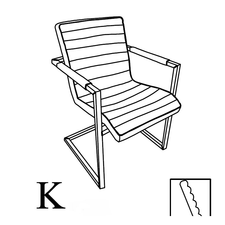 image-Franco Dining Chair with No Arms (K)