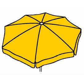 image-Amari 3m Traditional Parasol Freeport Park Fabric colour: Yellow