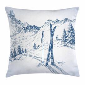 image-Palni Winter Ski Sport Mountain View Outdoor Cushion Cover Ebern Designs